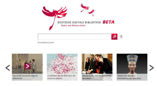 Start Deutsche Digitale Bibliothek