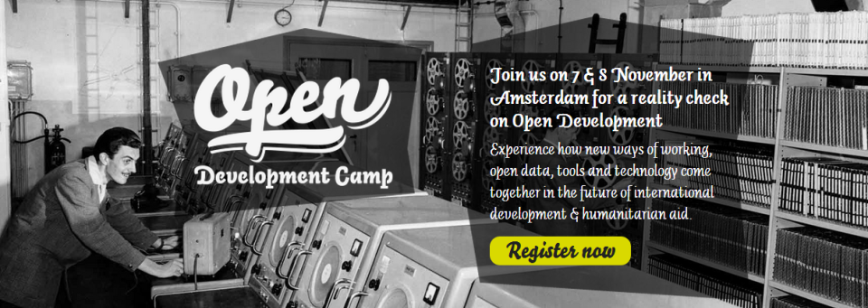 Open Development Camp 2013, 7-8 November, Amsterdam
