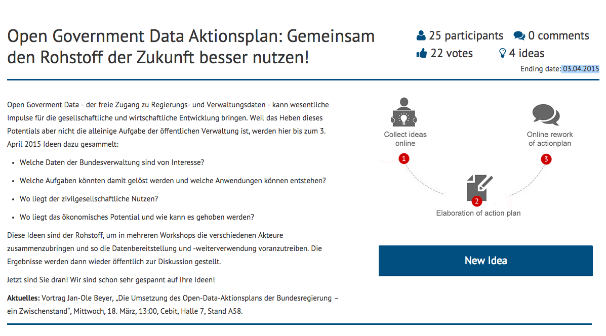 Den Open Government Data Aktionsplan mitgestalten!