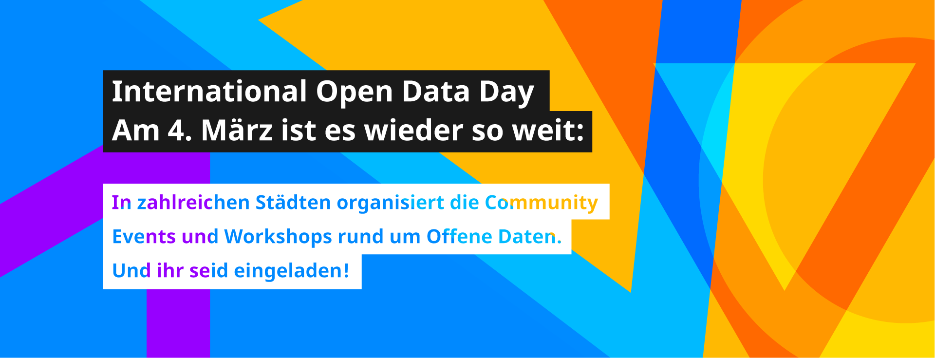 International Open Data Day am 04. März