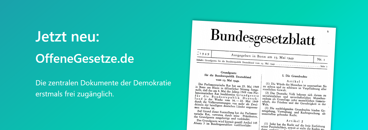 OffeneGesetze: Opening Germany's Law Gazette (Update)